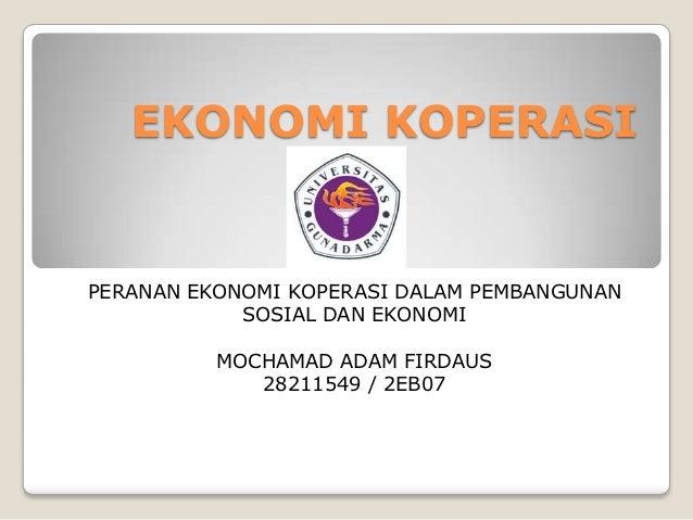 Presentation ekonomi koperasi