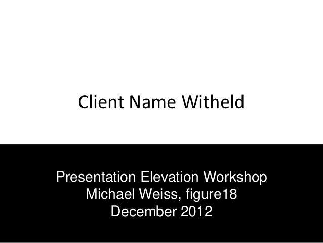 Presentation elevation 1212