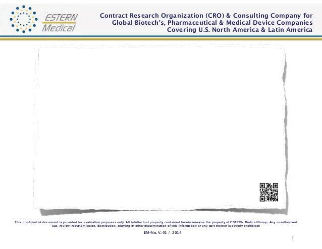 "ESTERN Medical (CRO) ""Corporate Presentation"" 2014 V1"