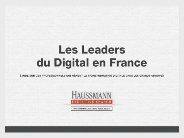 [HUBDAY] Hausmann ES - Présentation de l'étude « Les Leaders du Digital en France »