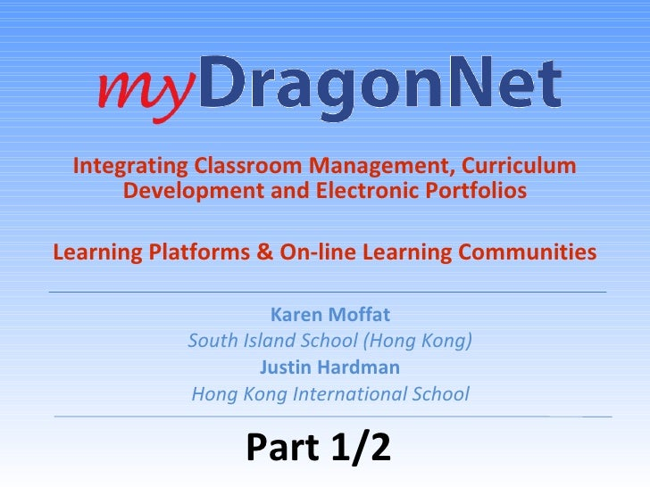 myDragonNet & Learning Platforms Part 1/2