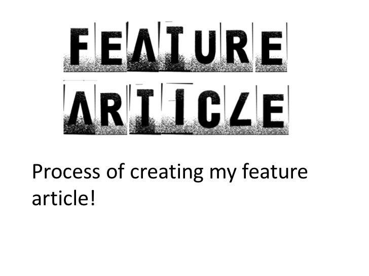 Presentation feature article
