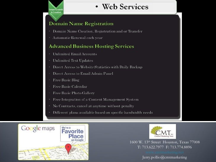 CMT Services & Skills