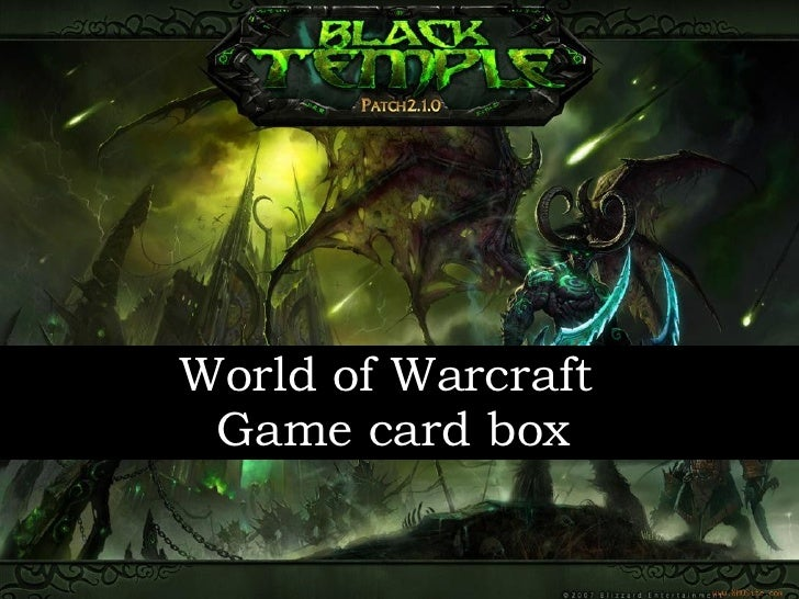 World of Warcraft  Game card box