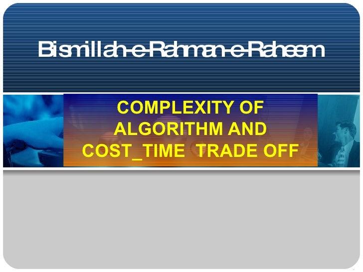 Complexity of Algorithm