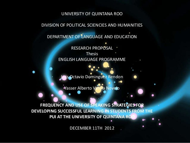 UNIVERSITY OF QUINTANA ROO    DIVISION OF POLITICAL SCIENCIES AND HUMANITIES      DEPARTMENT OF LANGUAGE AND EDUCATION    ...