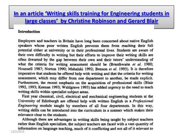 Article writing for students