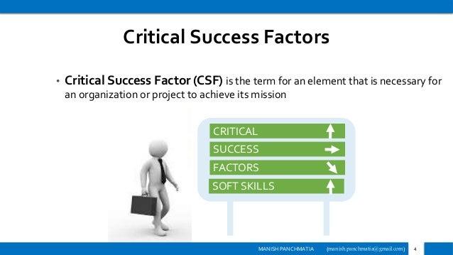 Thesis on critical success factors