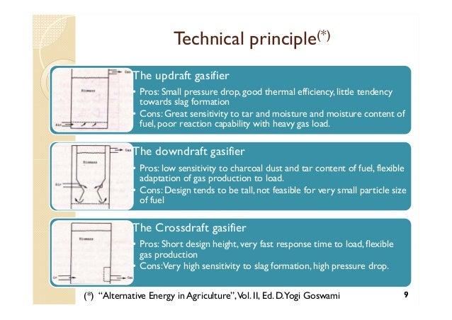 Updraft Gasifier Updraft Gasifier • Pros
