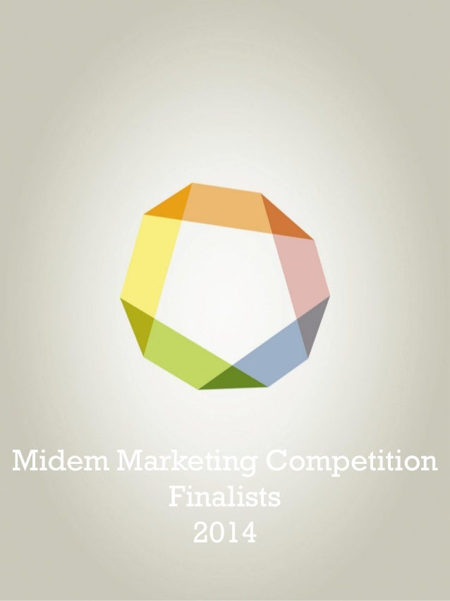 Midem Marketing Competition Finalists 2014