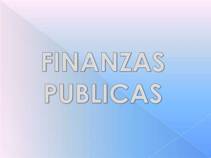 Presentation finanzas publicas