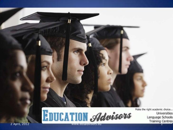 2 April, 2012   www.eduadvisors.eu   1