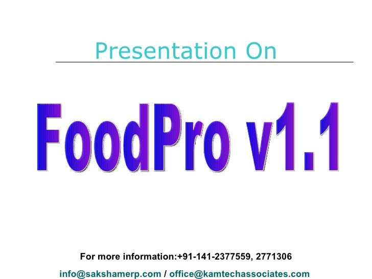 Presentation Food Pro