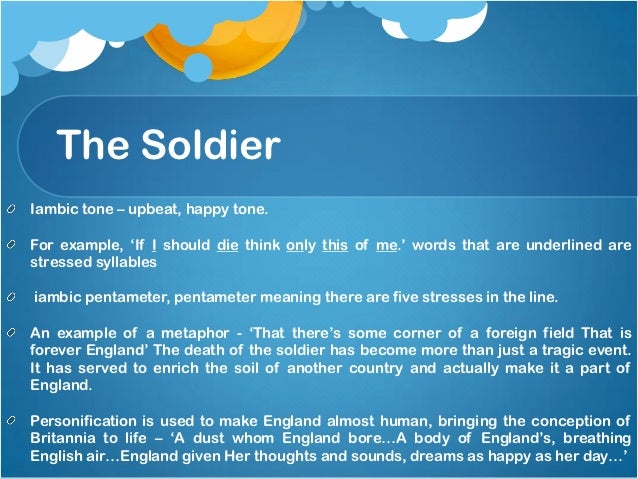 """rupert brooke the soldier essay In the paper """"the soldier by rupert brooke"""" the author analyzes the poem by rupert brooke who explores the mentality of patriotism andnationalism."""