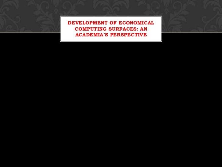 Presentation for feedback
