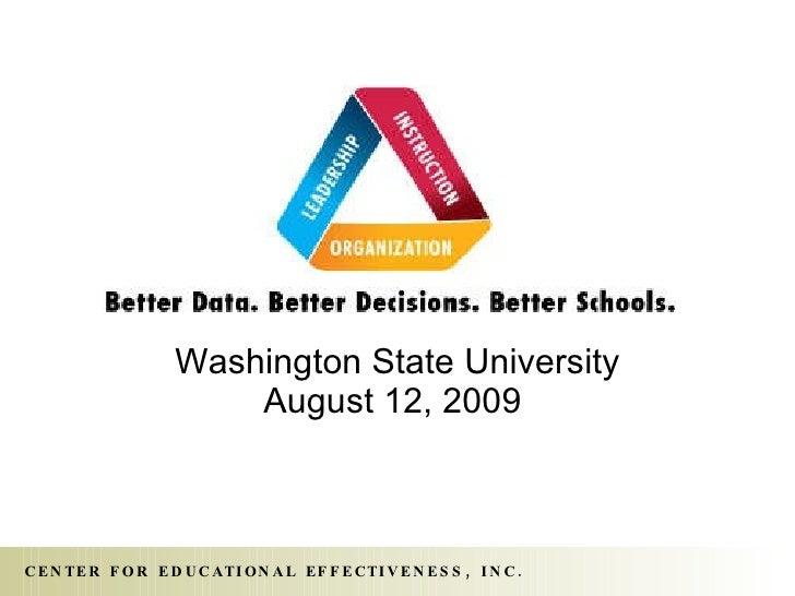 Washington State University August 12, 2009