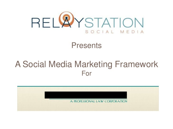 PresentsA Social Media Marketing Framework               For