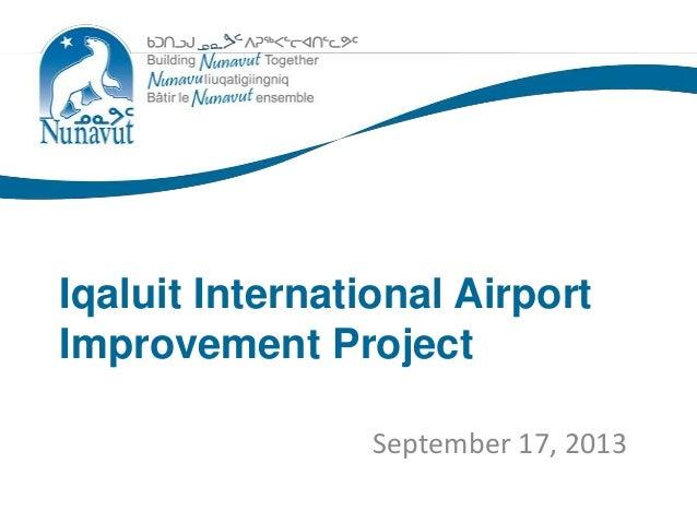 Iqaluit airport project slideshow