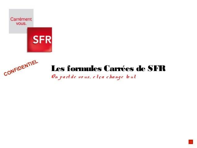 1 Les formules Carrées de SFR O n part de vo us, e t ça chang e to ut.CONFIDENTIEL