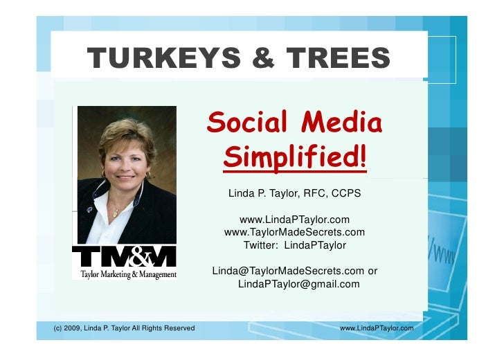 TURKEYS & TREES                                                  Social Media                                             ...