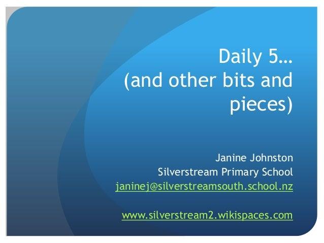 Presentation for South Otago teachers