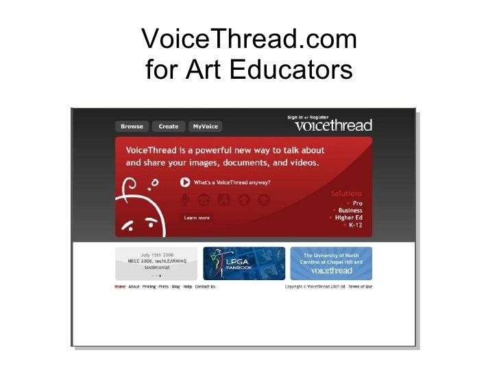 Presentation For Voicethread