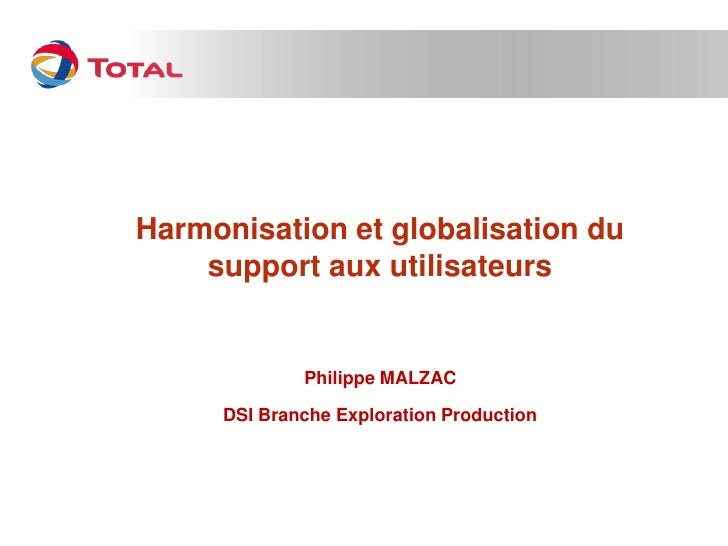 Presentation Fujitsu France et Total avec Philippe Malzac