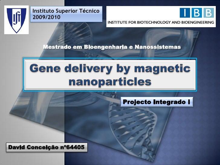 Instituto Superior Técnico        2009/2010                Mestrado em Bioengenharia e Nanossistemas                      ...