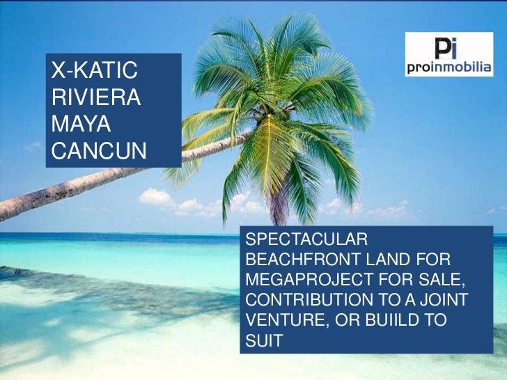 Spectacular 125 ha beachfront development site in Cancun