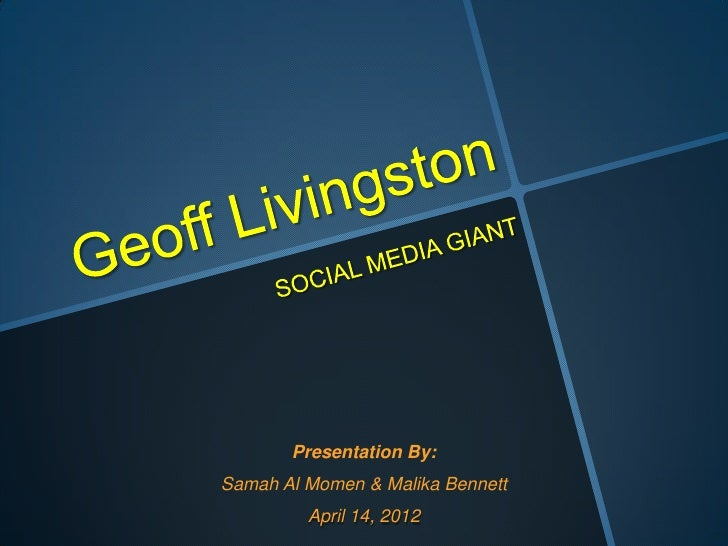 Presentation By:Samah Al Momen & Malika Bennett         April 14, 2012