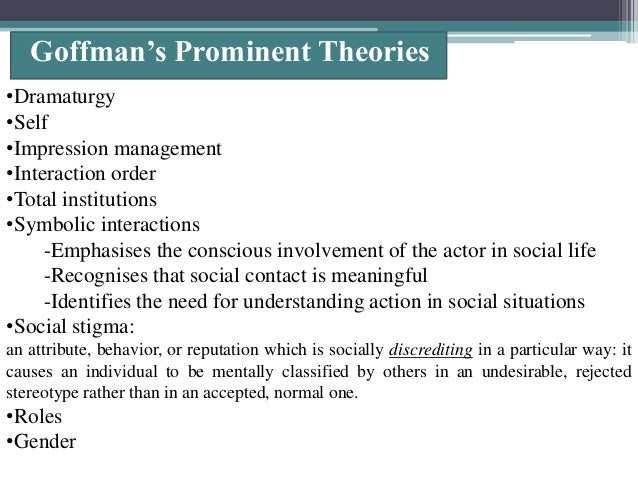 Goffman frame analysis an essay on the organization of experience