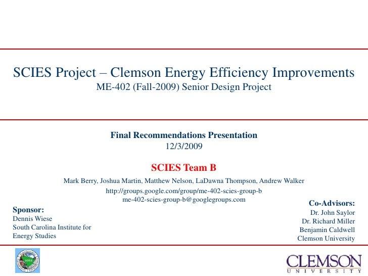 Final Recommendations Presentation<br />12/3/2009<br />
