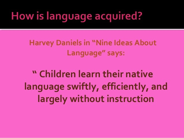 nature and nurture in language acquisition essay
