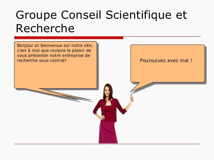 Groupe Conseil Scientifique et Recherche Groupe Conseil Scientifique et Recherche ( GCRS), veut se positionner comme un le...