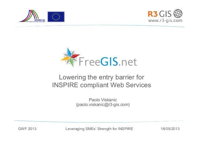 FreeGIS.net presentation at the Geospatial World Forum in Rotterdam 2013