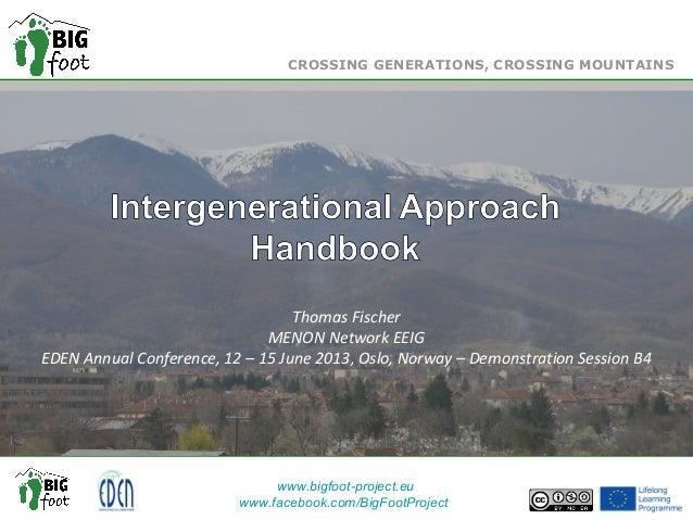 Title of the Presentation Sub-title Thomas Fischer MENON Network EEIG EDEN Annual Conference, 12 – 15 June 2013, Oslo, Nor...
