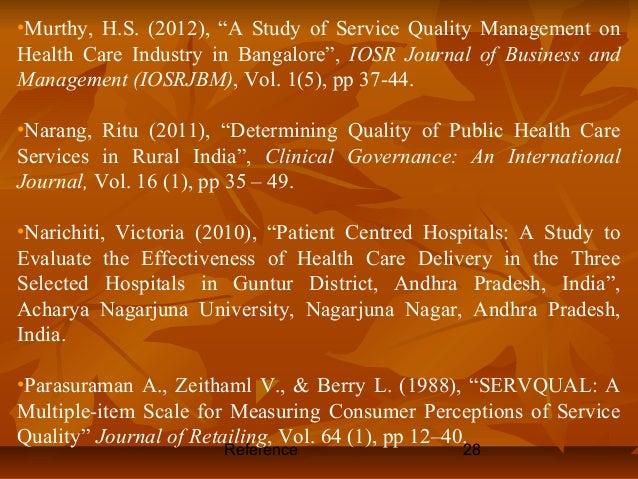 Dissertation review service quality management