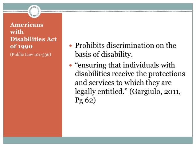 an analysis of the impact of the disabilities act of 1990 on americans