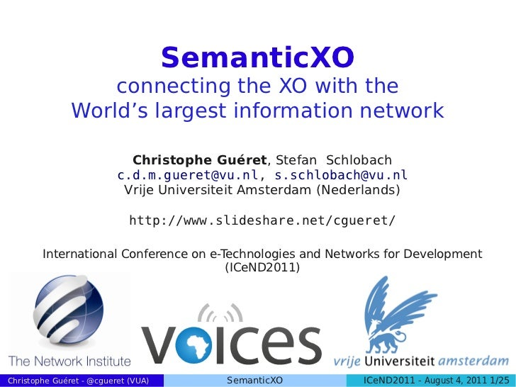 SemanticXO                   connecting the XO with the               World's largest information network                 ...