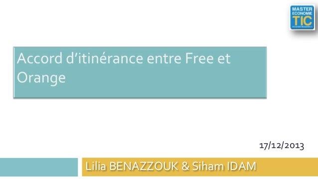 17/12/2013  Lilia BENAZZOUK & Siham IDAM