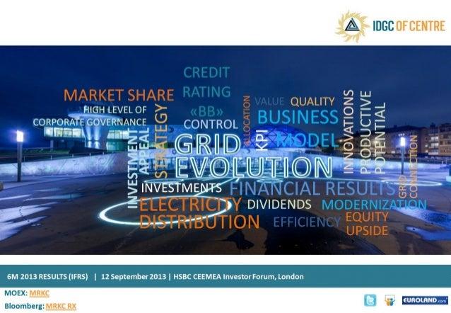 Presentation IDGC of Centre HSBC 12.09.2013