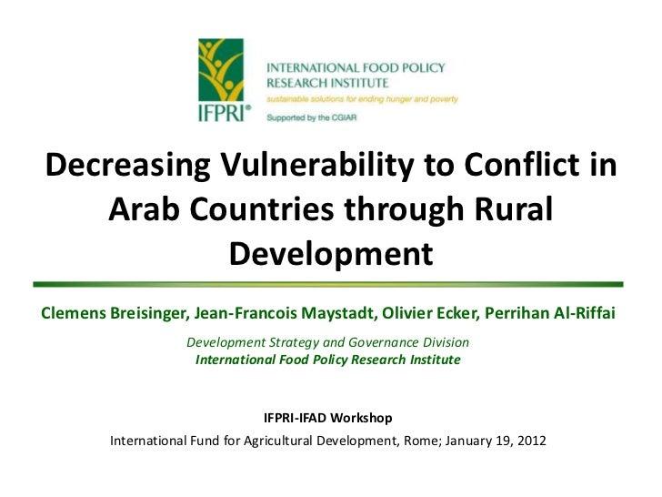 Presentation IFAD-IFPRI Workshop 1-18-12