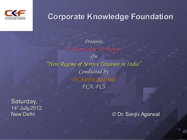 Corporate Knowledge Foundation                                Presents                        A Knowledge Workshop        ...