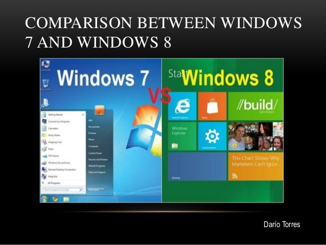 COMPARISON BETWEEN WINDOWS7 AND WINDOWS 8                      Darío Torres
