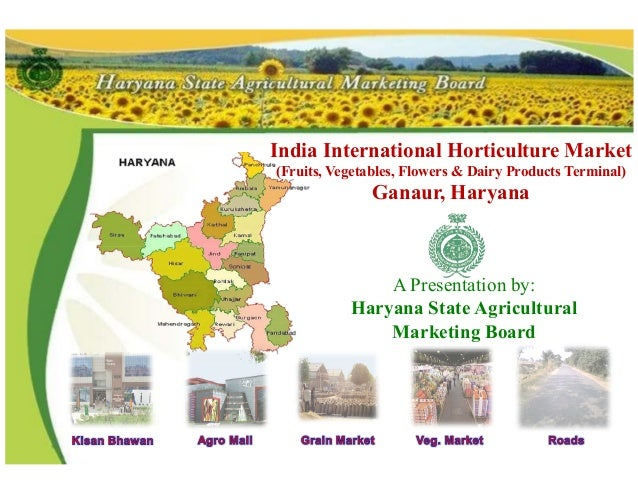 India International Horticulture Market (Fruits, Vegetables, Flowers & Dairy Products Terminal) Ganaur, Haryana A Presenta...
