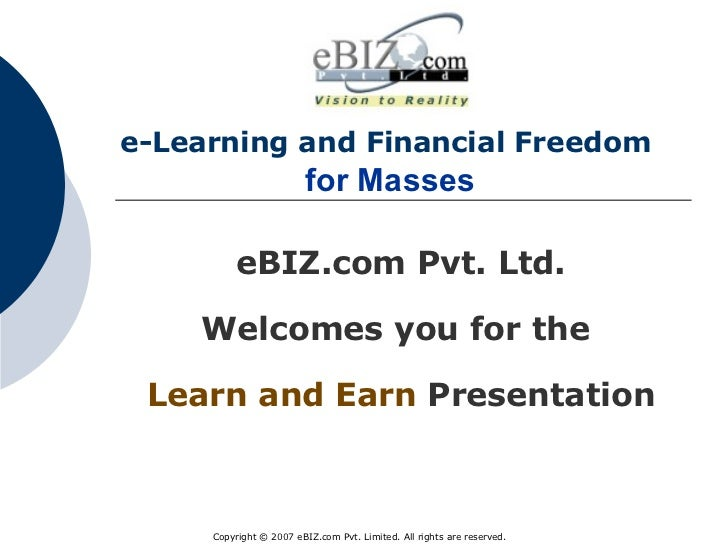 ebiz Presentation