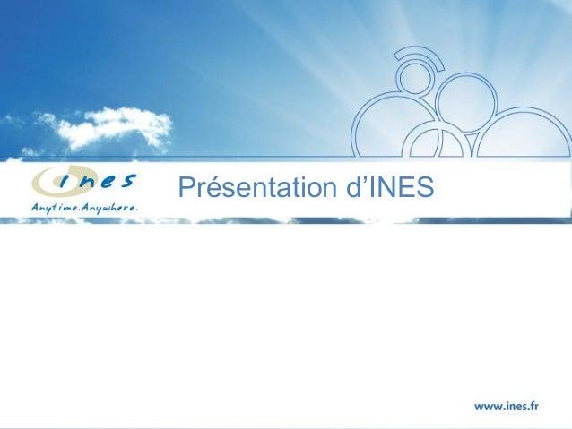 Presentation INES CRM