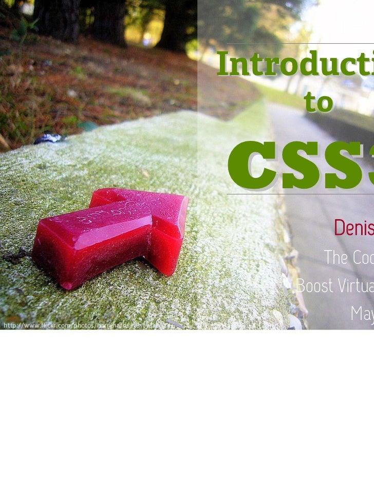 Intro to CSS3