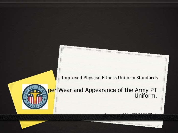 the proper wear and appearance of Military appearance in this paper i will discuss the importance of why a nco or drill sergeant should maintain proper military appearance and why it is important.