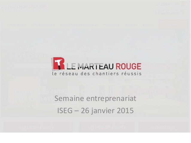 Semaine entreprenariat ISEG – 26 janvier 2015 ©